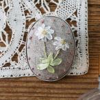 刺繍 キット piece ポリトリエさんのリボン刺しゅうキット ハナコトバ・ブローチ Daisy デイジー