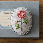 刺繍 キット piece ポリトリエさんのリボン刺しゅうキット ハナコトバ・ブローチ Rose バラ