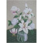 刺繍 Charivna Mystery of white flower 白い花の神秘 輸入キット