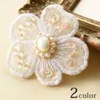 刺繍 簡単 ビーズ刺繍 ブローチキット 花 |手作りブローチ キット