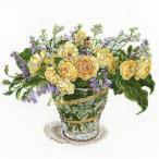 刺繍 COSMO Fujico collection グラハム・トーマスとバター・カップ|No.682 フジコ 花 クロスステッチ キット