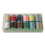 生地 ソーイング副資材 用品 糸 GXミシン糸150m巻き12色セット