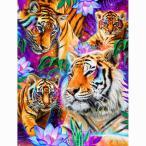 ダイヤモンドアート 富士山 湖畔の夜明け 白鳥 日本の風景 40×40cm モザイク画 ダイヤモンドペインティング インテリア 鳥 ビーズ刺繍キット 絵画 送料無料