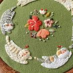 刺繍キット 猫さんシリーズ(3)ダンス かんたん フランス刺繍 プラスチック製の枠付き