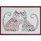 クロスステッチキット 猫 Imaginating クロスステッチ チャート 図案 猫 アルファベット 友達 送料無料