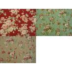 YUWA シャーティング 生地 (50cm単位) こうの早苗さんデザイン シャーティングリファインド生地 薔薇 (グリーン) KS825370-D