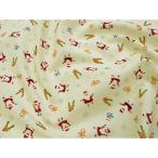 ショッピングプリント クリスマスプリント生地(50cm単位) 可愛いサンタとトナカイ6883-12 Merry Christmas   クリスマス、プレセント 雪 スノー、サンタ、ベル