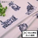 綿麻 キャンバス 生地 (50cm単位) う早この布 フローレンスの時 UP5725 布 生地 コットンこばやし 花 フラワー
