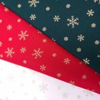 クリスマス プリント生地 (50cm単位) 雪の結晶 7045-2 Merry Christmas クリスマス SNOW スノー Xmas