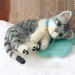 羊毛フェルト 猫キット(フェルト羊毛キット)うちのこを作ろう! サバトラ