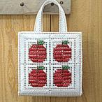 夏休み 工作(子供手芸)自由研究 小学生 女の子 エコアンダアリヤ キット  リンゴのましかくバッグ