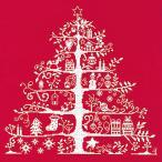 DMC刺繍キット クリスマス(刺しゅう)クロスステッチ クリスマスツリー(レッド/ホワイト)初心者向け