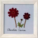 青木和子 刺繍キット 12か月の植物手帖 Chocolate Cosmos(チョコレートコスモス)