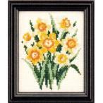 ルシアン(コスモ) クロスステッチ 刺繍キット(刺しゅうキット) 四季折々の花だより 1月(すいせん)