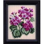ルシアン(コスモ) クロスステッチ 刺繍キット(刺しゅうキット) 四季折々の花だより 9月(ゼラニウム)