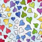 Loralie Designs ローラライ ハリス (ロラライ ハリス)デザイン Happy Hearts ハート 総柄(ブルースカイ)【30cm以上10cm単位】