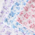 マスク生地 夏用 涼しい 高島ちぢみ プリント 薔薇柄 巾110cm (10cm¥110 50cm(5)より カットいたします。)