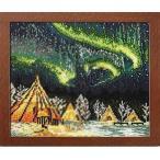 刺繍キット(イエローナイフのオーロラ(カナダ))