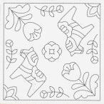 リハビリ(作業療法)北欧モチーフの花ふきん布パック ダーラナホース