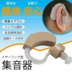 小さい 軽量 イヤーフック型集音器 耳かけ式 左右両耳対応