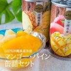 マンゴー・パイン缶詰めセット2缶化粧箱入り 沖縄県産(送料無料)2017年産旬時期のマンゴーとパイン