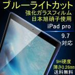 ipad pro9.7インチ ブルーライトカット強化ガラスフィルム 対応 日本製素材 液晶保護 送料無料 ブルー