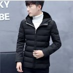 ダウンジャケット メンズ 厚手ジャケット 綿ジャケット アウターコート フード付き アウタージャケット防寒 防風 カジュアル