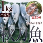 さんま サンマ 秋刀魚 青森 八戸 1kg  急速冷凍でお刺身でも【送料無料】サイズ不選別