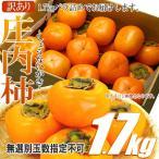 Persimmon - 庄内柿 山形県産 1.7kg 無選別 2個購入で1.6kg増量 バラ詰め 訳あり ワケあり わけアリ