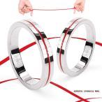 指輪 ステンレス リング レディース ペアリングに 指輪 レッドライン