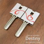 キーカバー サージカルステンレス(316L)製  ペアキーカバー ペア カギ 鍵 Destiny プレゼント クリスマス ホワイトデー バレンタイン
