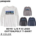 PATAGONIA パタゴニア BOYS' L/S P-6 LOGO COTTON/POLY T-SHIRT ボーイズ ロングスリーブ P-6 ロゴ