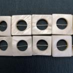 シェルパーツ 白蝶貝 15mm スクエア&円 6個 厚3mm