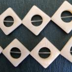シェルパーツ 白蝶貝 菱形 14x14mm 4個 厚み3mm