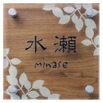 表札 おしゃれ ガラス 「SGW」