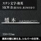 Yahoo!表札 通販専門店のサインデポ表札 ステンレス 切り文字 漢字+アルファベット 「SKW-B-2H」 戸建 新築祝い