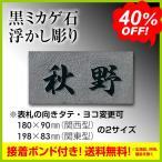 表札 御影石 Yahoo!ショッピング限定 「黒ミカゲ石浮かし彫り」