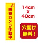 【送料無料】アルミ複合板 プレート看板 看板 標識 【防犯カメラ作動中】 14cm*40cm camera-03