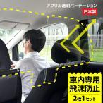日本製(2枚1セット) 車用パーテーション 車内の飛沫ブロッカー お車に応じた 車向け 飛沫防止用 横幅60cmタイプ 透明アクリル板(ネジ止め式)icp-b6049