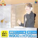 パーテーション PET 700 ワイドサイズ | H700 W900 パネル パーティション 透明 コロナ 間仕切り 卓上 塾 介護施設 食堂 飛沫防止