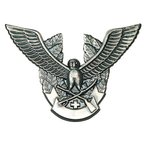 警備 帽章 鳥と剣・銀 Best ベスト S531