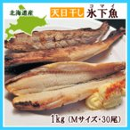 氷下魚(コマイ)天日干し(M・1Kg・30尾前後)×1個 /北海道根室産