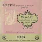 <中古クラシックLPレコード>モーツァルト:交響曲40番K.550,ハイドン:交響曲92番「オクスフォード」/J.クリップス指揮ロンドンso./英DECCA:LXT 2819