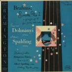 ブラームス:ヴァイオリン・ソナタ1番Op.78/A.スポルディング(vn)E.v.ドホナーニ(pf)/米REMINGTON:R 19984