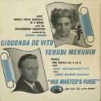 <中古クラシックLPレコード>バッハ:2つのヴァイオリンのための協奏曲/G.デ・ヴィート,Y.メニューイン(vn)A.バーナード指揮/英HMV:BLP 1046