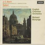 J.C.バッハ:協奏交響曲,交響曲,サリエリ:シンフォニア「ヴェネツィアーナ」/R.ボニング指揮イギリス室内o. 他/SXL 6397