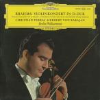 ブラームス:ヴァイオリン協奏曲Op.77/C.フェラス(vn)H.v.カラヤン指揮ベルリンpo./英DGG:138 930