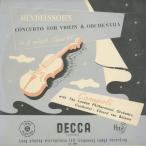 メンデルスゾーン:ヴァイオリン協奏曲Op.64/A.カンポーリ(vn)E.v.ベイヌム指ロンドンpo./英DECCA:LX 3001