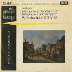 ベートーヴェン:ピアノ・ソナタ8番Op.13「悲愴」,14番Op.27-2「月光」/W.バックハウス(pf)/英DECCA:SWL 8016