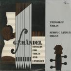 ヘンデル:ヴァイオリン・ソナタOp.1-3,1-10,1-12〜15/T.オロフ(vn)S.ヤンセン(org)/蘭CLASSICAL RECORD:180 464-5
